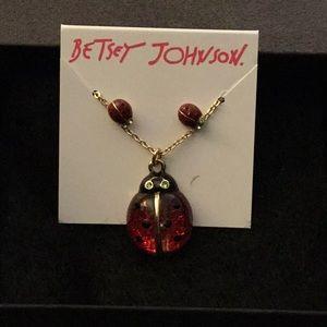 NWT Betsey Johnson  Ladybug Necklace & Earring Set